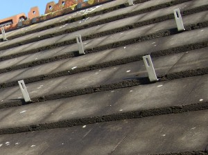 Roof anchors fitted prior to rail installation
