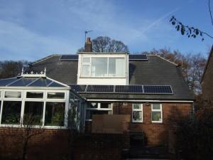 9 x 195W CSUN solar panels