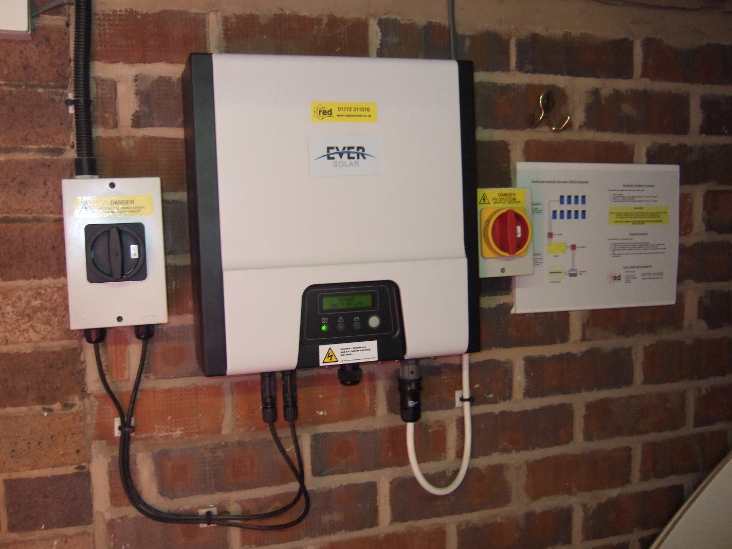 Red Electrical Solar Panels Case Studies In West Lancashire