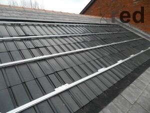 Renusol Intersole mounting system ready for solar panels to be fitted