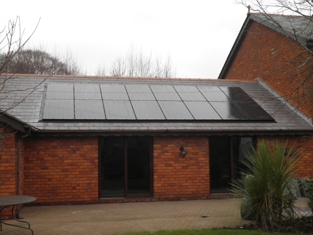 4kW all black solar panels with in-roof mounting system.