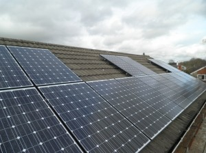 16 x Hyundai 250W solar panels Arranged to leave space for roof windows