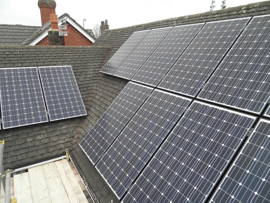 Red Electrical Solar Panels Case Studies In Preston