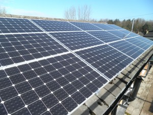 Solar panels in Leigh