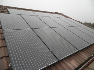 Solar panels in Burscough