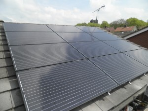Solar panels in Ormskirk