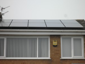 Solar panels in Kirkham