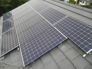 Solar panels in Edenfield
