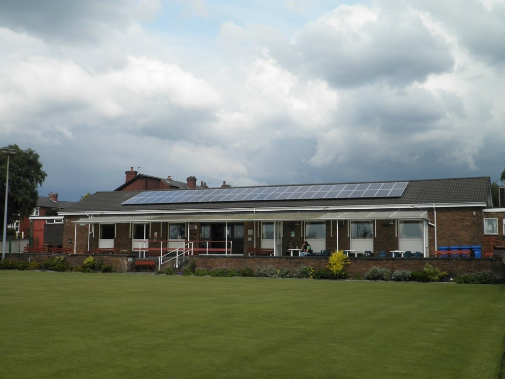 Solar panels installed on west facing roof of Clubhouse