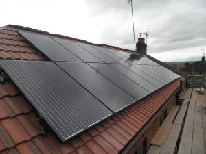 Solar panels in Denton, Tameside