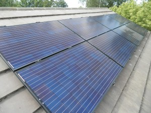 16 x Sharp 245W solar panels