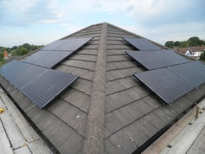 Solar panels in Adlington