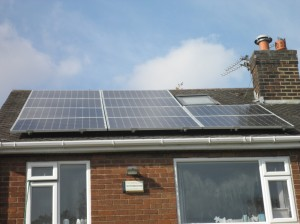 Solar panels in Wythenshawe, Manchester