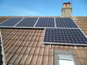 Solar panels in Forton