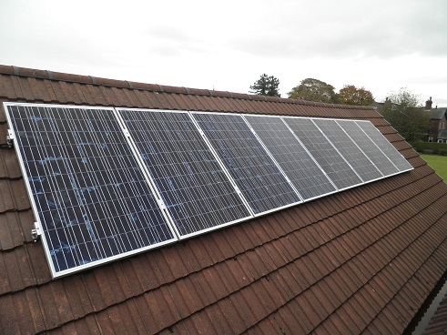 8 x Renesola 250W solar panels on one roof