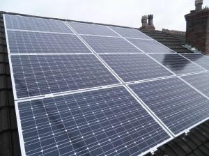 Solar panels in Chorlton, Manchester