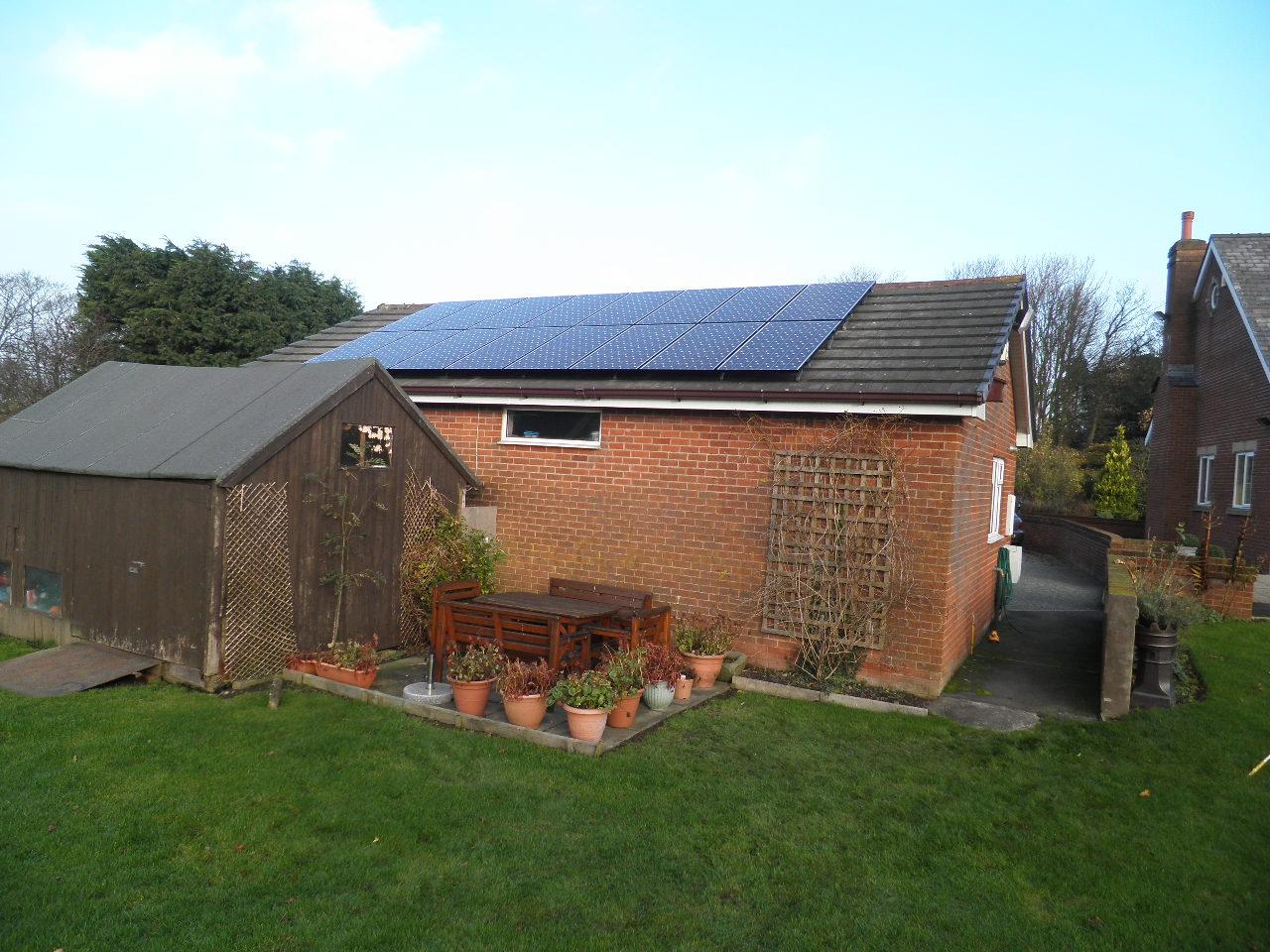 Red Electrical Solar Panels Case Studies In Kirkham