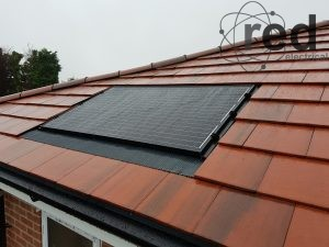 Single panel system integrated into roof