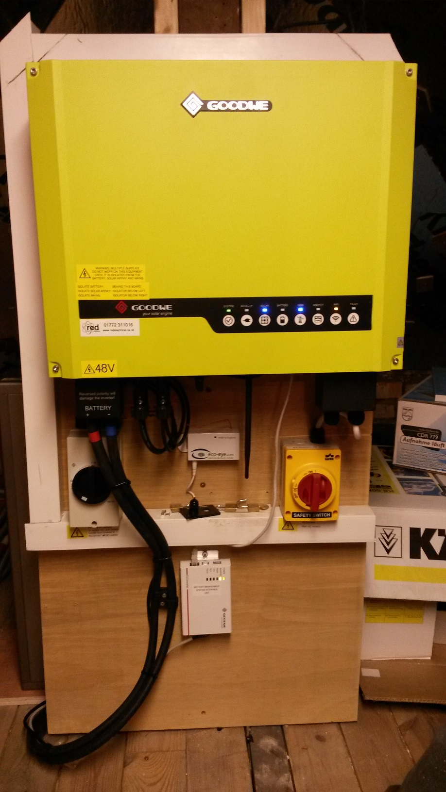 Red Electrical Existing Pv System Upgraded With Goodwe